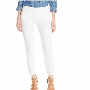 NYDJ Alina Pull On Stretch Ankle Skinny Jean White
